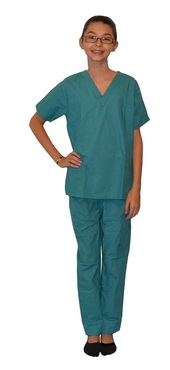 Teal Green Kids Scrubs