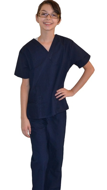 Kids Scrubs Navy Blue