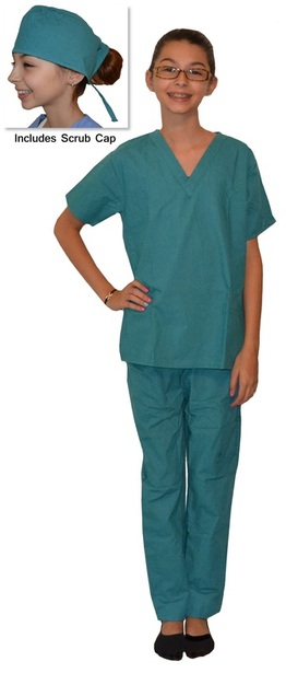 Kids Scrubs Teal Green