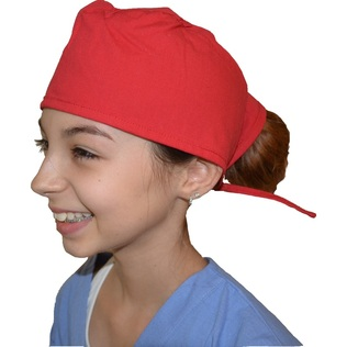 Kids Scrub Cap Red